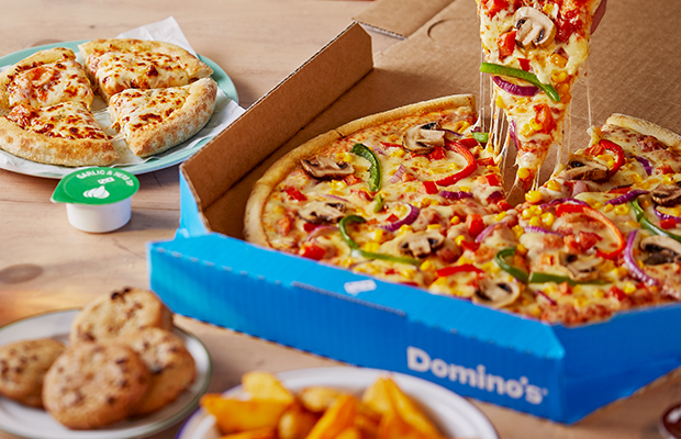 Pick up a slice of Domino's pizza